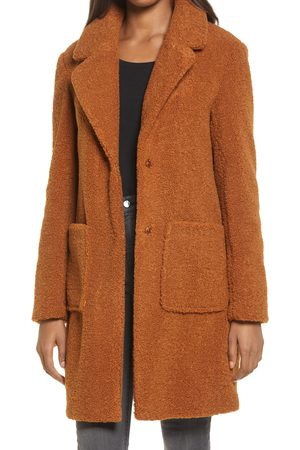 French Connection Women's Faux Fur Teddy Coat