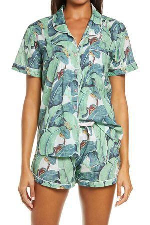 Sant And Abel Women's Martinique Banana Leaf Short Pajamas
