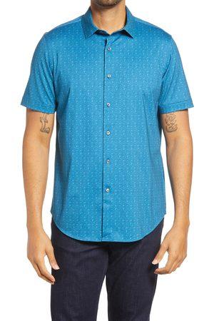 Bugatchi Men's Print Short Sleeve Button-Up Shirt