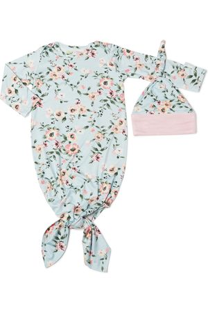 Baby Grey by Everly Grey Infant Girl's Knotted Gown & Hat Set