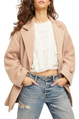 Free People Women's Hannah Slouchy Double Breasted Blazer
