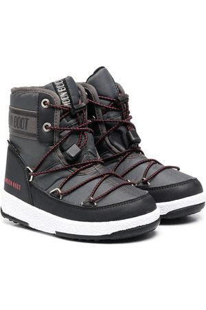 Moon Boot Boys Boots - Crossover-strap moon boots