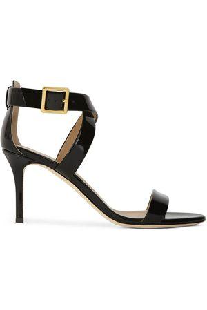 Giuseppe Zanotti Women Sandals - Patent cross-strap high-heel sandals