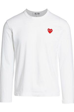 Comme des Garçons Men's Red Heart Long-Sleeve Tee - - Size Large