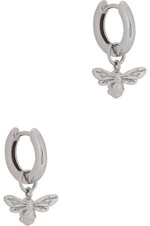 Olivia Burton Lucky Bee sterling hoop earrings