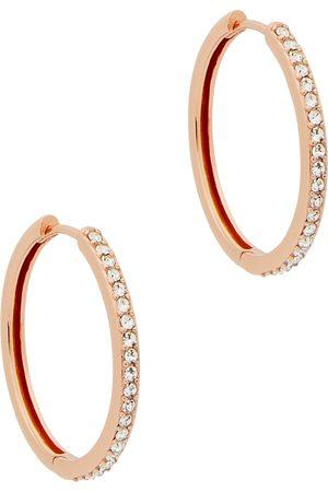 Olivia Burton Rose gold-plated embellished hoop earrings