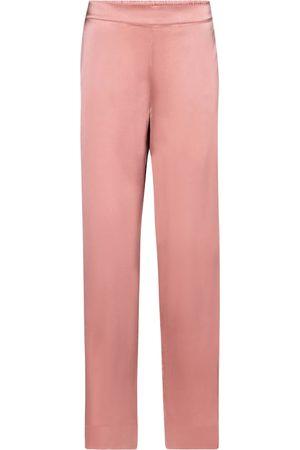 ASCENO London silk satin pajama pants