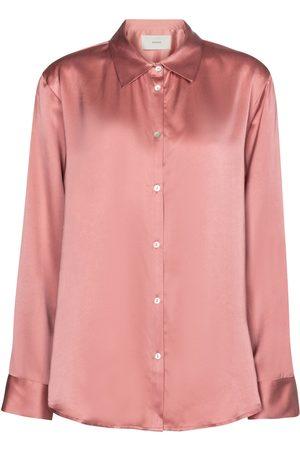 ASCENO London silk satin blouse