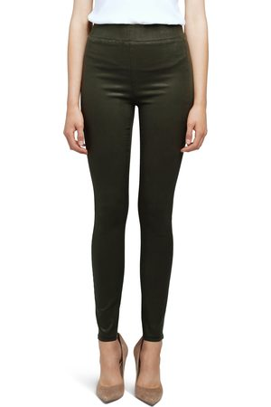 L'Agence Women's Rochelle Coated High Waist Pull-On Skinny Jeans