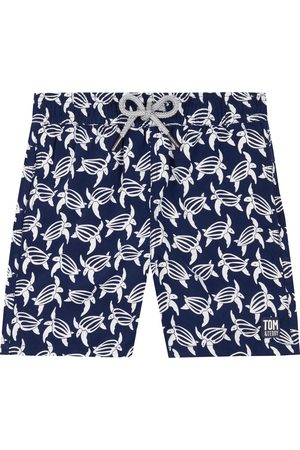 Tom & Teddy Boy's Kids' Turtle Print Swim Trunks