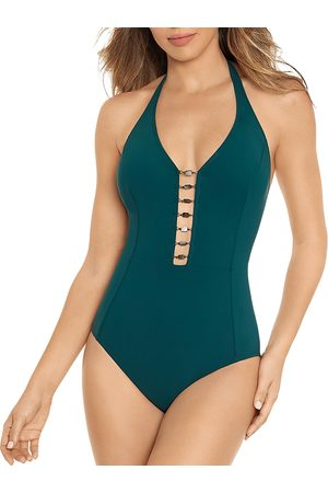 Amoressa by Miraclesuit Northern Lights Beaded One Piece Swimsuit