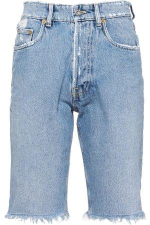 Miu Miu Distressed-effect denim bermuda shorts