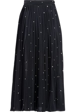 Miu Miu Embroidered crepe de chine skirt