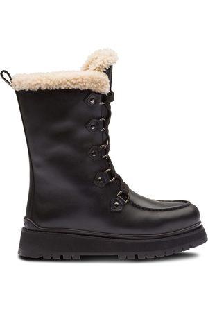 Miu Miu Shearling lace-up boots