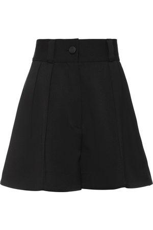 Miu Miu Women Shorts - High waisted tailored shorts