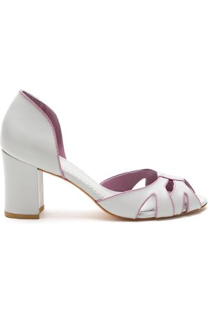 Sarah Chofakian Leather Collier shoes - Grey