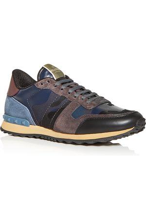 VALENTINO Men Sneakers - Men's Tonal Camo Print Low Top Sneakers