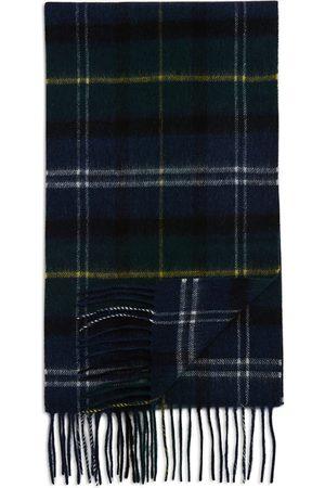 Barbour Men Scarves - Tartan Plaid Merino Wool & Cashmere Scarf
