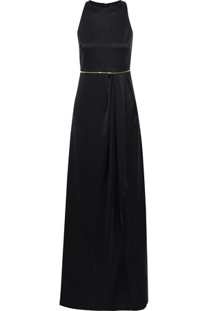 BRANDON MAXWELL Woman Zip-embellished Pleated Silk-satin Gown Size 6