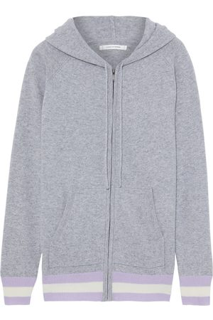 Chinti & Parker Woman Striped Wool And Cashmere-blend Hoodie Size M