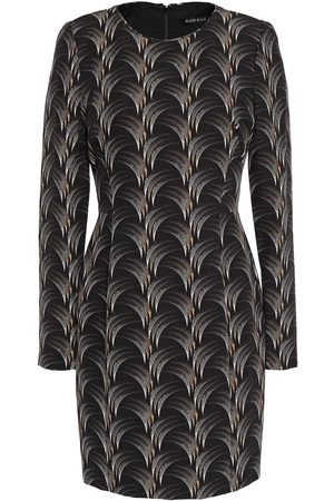 Black Halo Woman Lively Printed Cady Mini Dress Size 10