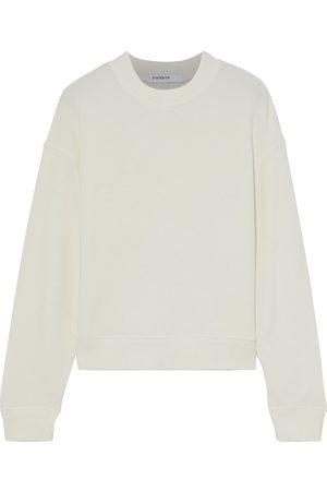 STATESIDE Women Sweatshirts - Woman Modal-blend Fleece Sweatshirt Off- Size XS