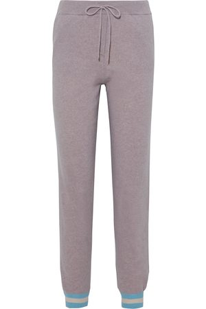 Chinti & Parker Women Sweatpants - Woman Striped Wool And Cashmere-blend Track Pants Taupe Size L