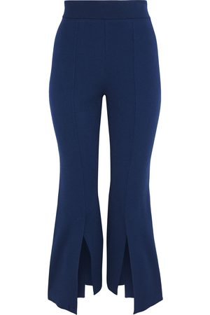 Stella McCartney Woman Stretch-knit Kick-flare Pants Royal Size 44