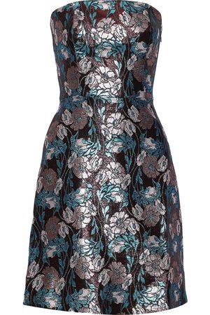 Sachin & Babi Woman Mirelle Strapless Brocade Mini Dress Burgundy Size 10