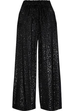 ALEXANDRE VAUTHIER Women Wide Leg Pants - Woman Metallic Fil Coupé Chiffon Wide-leg Pants Size 38
