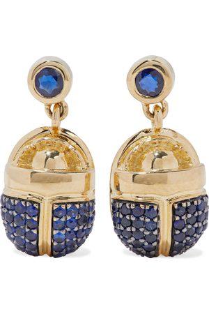 PAMELA LOVE Women Earrings - Woman 18-karat Gold Sapphire Earrings Size