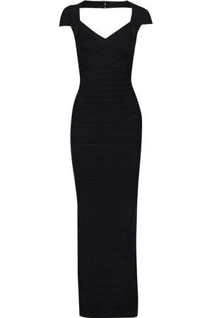 Hervé Léger Women Evening dresses - Hervé Léger Woman Cutout Bandage Gown Size M