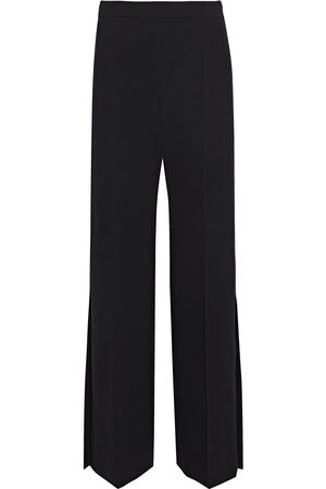Max Mara Women Wide Leg Pants - Woman Vicario Satin-trimmed Crepe Wide-leg Pants Size 36