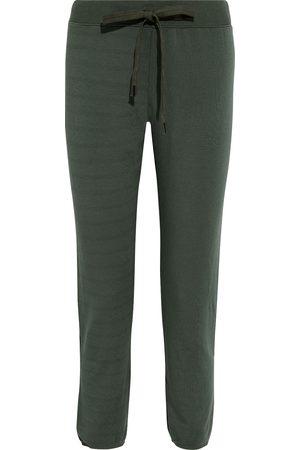 Stateside Women Sweatpants - Woman Stretch Cotton And Modal-blend Fleece Track Pants Army Size L