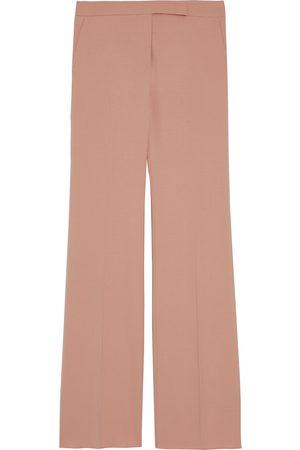 Max Mara Women Wide Leg Pants - Woman Agave Grain De Poudre Wool-blend Bootcut Pants Blush Size 36