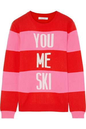 Chinti & Parker Woman Striped Intarsia Wool And Cashmere-blend Sweater Size L