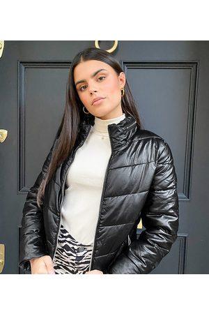 Parisian Coated puffer jacket in