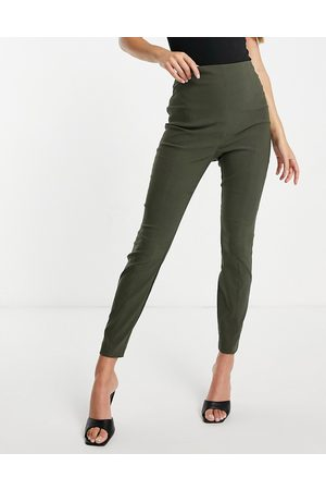 ASOS Hourglass high waist pants in skinny fit in khaki