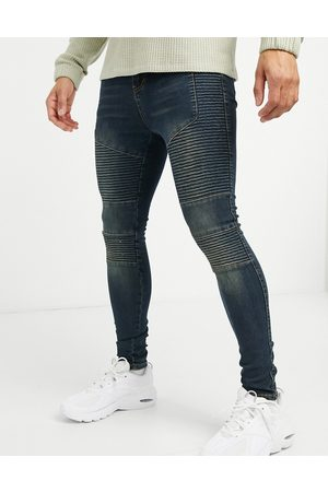 Good For Nothing Skinny biker jeans in mid wash