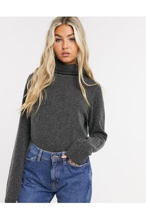 Selected Femme knitted sweater with roll neck in