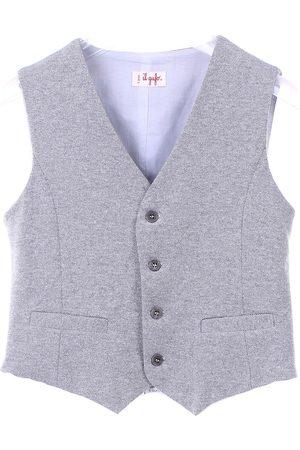 Il gufo Knitted vest Boys Grey