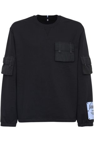 McQ Men Sweatshirts - Foam Cotton Sweatshirt W/ Nylon Pocket