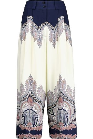 Etro Paisley high-rise wide-leg pants