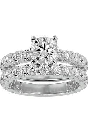 SuperJeweler 4 Carat Round Diamond Bridal Ring Set in 14K (6.50 g) (