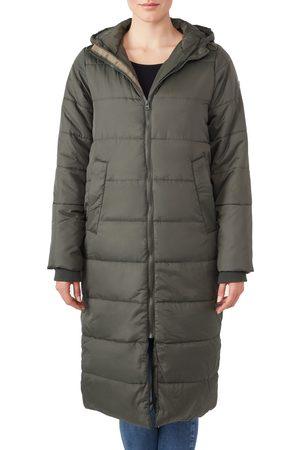 Modern Eternity Women's 3-In-1 Long Quilted Waterproof Maternity Puffer Coat