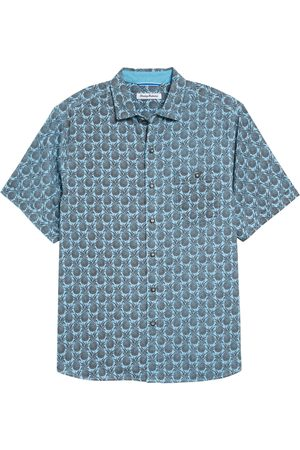 Tommy Bahama Men's Fine Apple Short Sleeve Button-Up Shirt