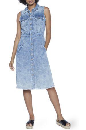 WASH LAB Women's Denim Midi Dress