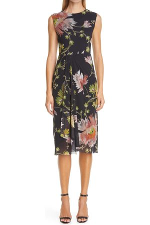 FUZZI Women's Tudor Print Pleat Detail Dress