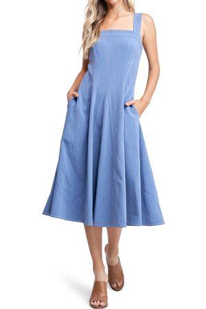 EN SAISON Women's Contrast Stitch Midi Dress