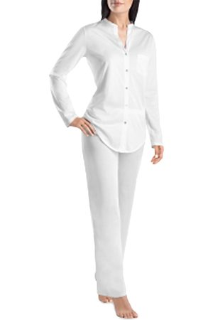 Hanro Cotton Deluxe Long Pajama Set